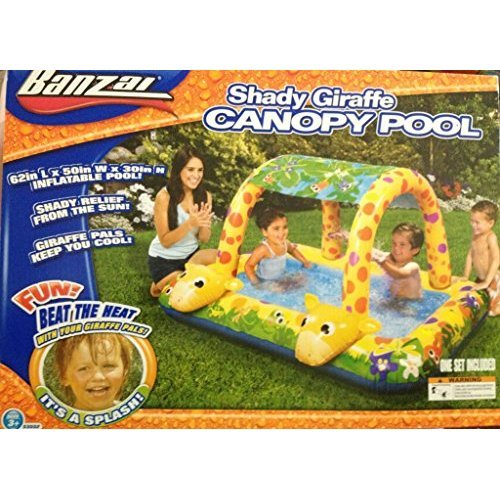 Banzai Giraffe Canopy Pool - Shady Fun Splash Time