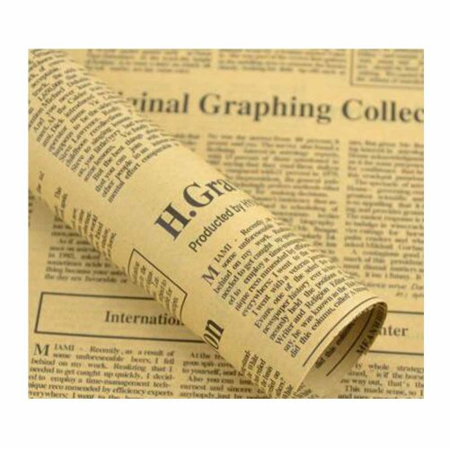 30 Sheets Brown Kraft Paper Newspaper Florist Supplies Gift Wrapping Flower Wrapping Paper