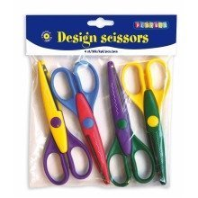 Pbx2510003 - Playbox - Design Scissors (various) - 16cm - 4 Pcs