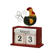 Wooden Permanent Calendar Creative Calendar Decoration For Home / Office -A9