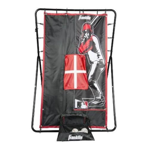 Franklin Sports  Sports MLB 55 in. 2-in-1 Switch Hitter Return Trainer