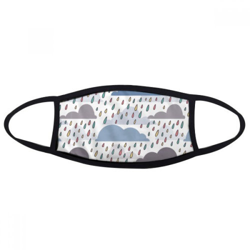 Cloud Rain Weather Drip Pattern Mouth Face Anti-dust Mask Anti Cold Warm Washable Cotton Gift