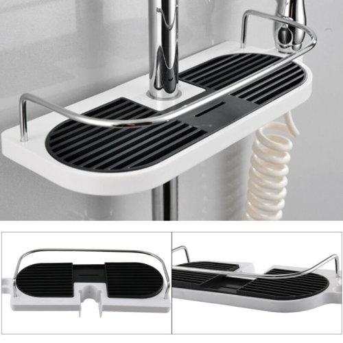 Bathroom Shelf Shower Pole Storage Caddy Rack Organiser Tray Holder Accessory UK
