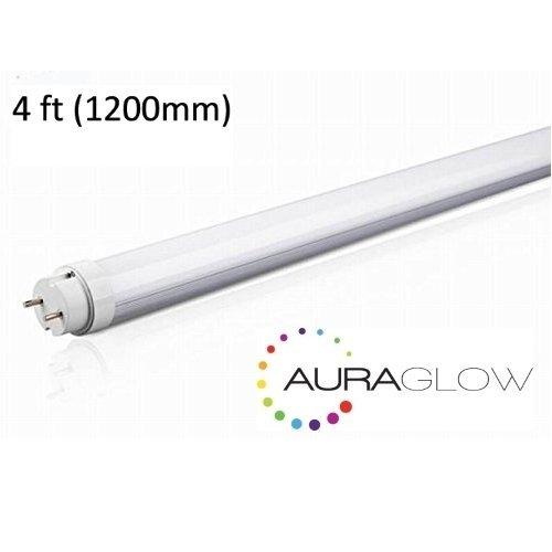 Auraglow Energy Saving 18w 4ft 1200mm Cool White, 6500k, 1800lm, T8 Fluorescent LED Tube Light, 36w EQV