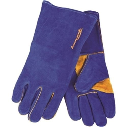 Forney Industries Inc 53423 Gloves Welding Heavy-Duty Blue Mens, X-Large