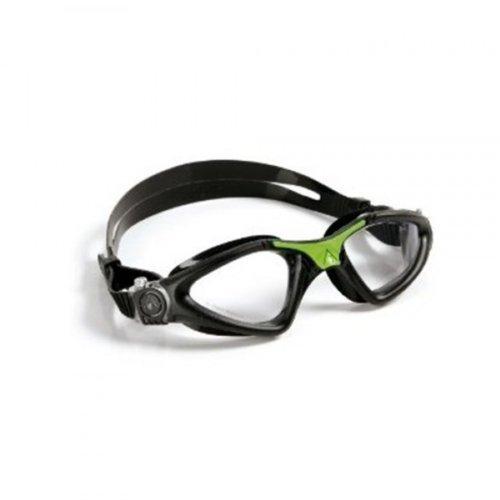 Aqua Sphere Kayenne Swim Goggles With Clear Lens Black Green