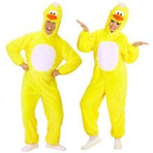 XL Yellow Adults Duckling Costume - Ladies Plush Animal Easter Fancy Dress -  ladies plush duckling costume animal easter fancy dress cosplay outfit