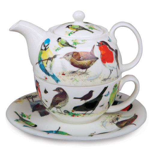 Roy Kirkham Tea for One Set Garden Birds