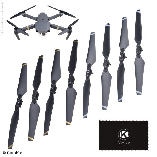 CamKix Propellers for DJI Mavic Pro - 2 Sets (8 Blades) - Black - Quick Release Foldable Wings - Flight Tested - Essential DJI Mavic Pro Accessory...