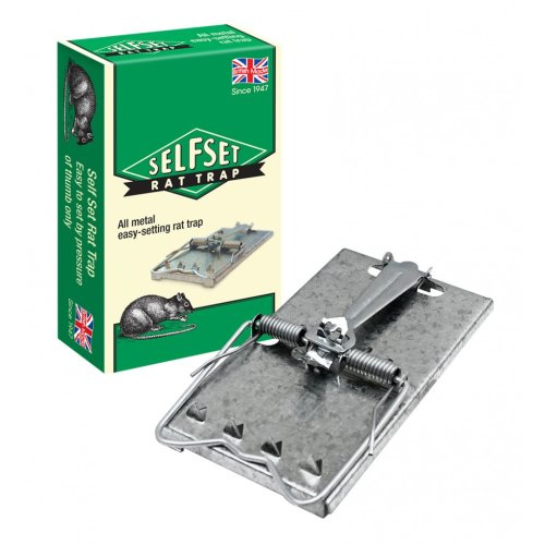 Easy Self Set Metal Rat Trap -  rat trap self set metal