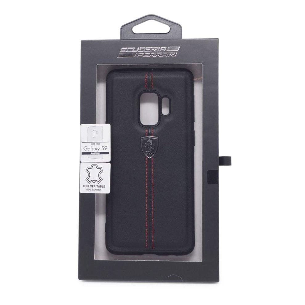 d968bf3c5 ... Ferrari Scuderia Black Leather Hard Case Cover for Samsung S9 - 2. >