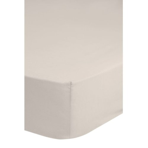 Emotion Non-iron Fitted Sheet 180x220 cm Sand 0220.06.47