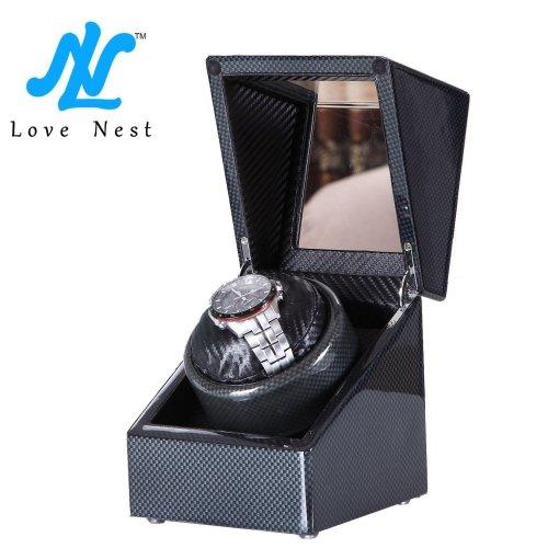 [Carbon New Style] Love Nest Single Premium Carbon Watch Winder (Black)