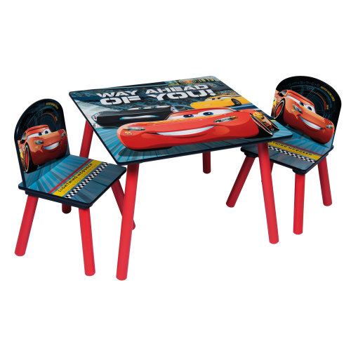 (Cars) Children's Cartoon Character Table & Chair Set