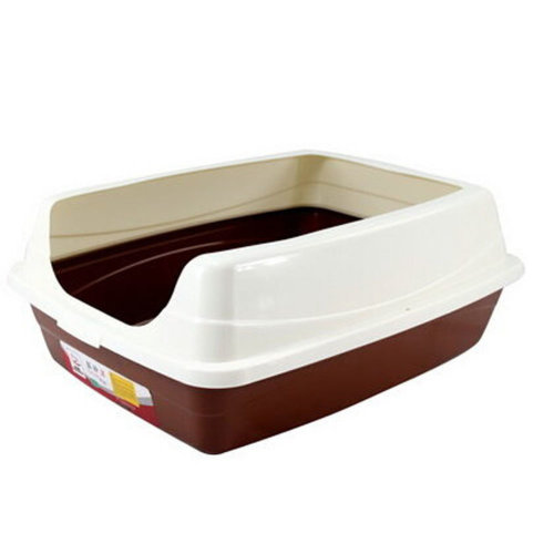 "Pet Supplies & Indoor Training Pet Potty Cat litter Basin(19""*15""*7""),COFFE"