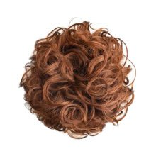 Women's Elegant  Wavy Hair Bun Donut Human Hair Bun Extension,Deep Brown