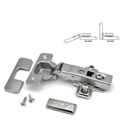 20 x GTV Soft Close 35mm Kitchen Hinge Cabinet Door Plate + Screws