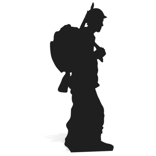 STAR CUTOUTS SC862 Soldier Silhouette Cardboard Cut out