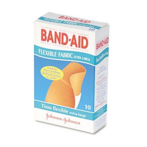 Johnson & Johnson 5685 Flexible Fabric Extra Large Adhesive Bandages  1-1/4 x 4  10 per Box