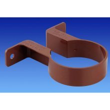 "Osma 0T034N Round pipe clip / bracket 68mm (2.5"" dia) Brown"