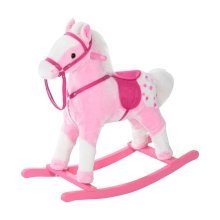 Homcom  Kids Rocking Horse with Sound Handle (pink)