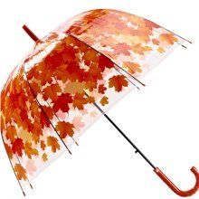 Long Umbrella Thickening Creative Umbrella Personality Small Fresh Cherry Leaves