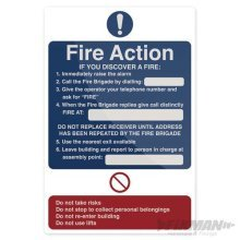 200mm x 300mm Fire Action Sign - You Discover Fixman Rigid 200 517138 -  fire action you discover sign fixman 300mm rigid 200 517138
