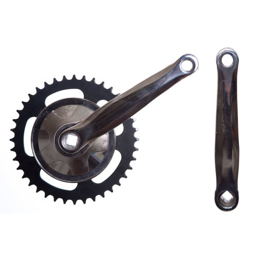 """40 TOOTH BIKE SINGLE SPROCKET CHAINSET with 170mm CRANKS (9/16"""" PEDALS) RETRO"""