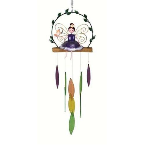 Gift Essentials GEBLUEG505 Garden Fairy Chime, Purple