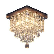 HOMCOM Crystal Light Ceiling Lamp-Silver