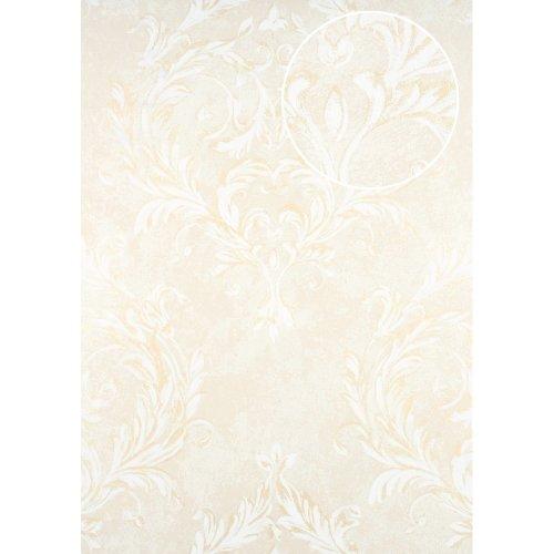 ATLAS CLA-603-2 Baroque wallpaper shimmering cream oyster white 5.33 sqm