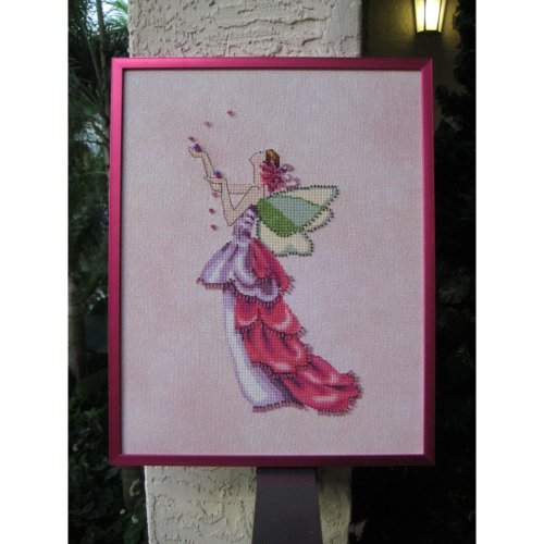 Pixie Couture Collection Orchid Counted Cross Stitch Chart Pattern