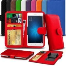 """iTronixs - Archos 55 Cobalt+ (5.5"""") High Quality Clamp Style PU Leather Wallet Case Cover"""