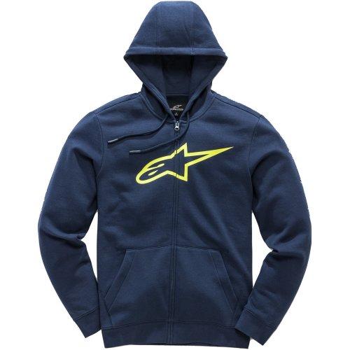Alpinestars Hooded Fleece ~ Ageless II navy/yellow