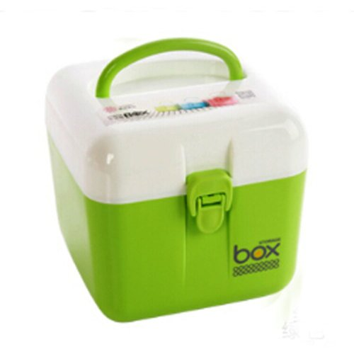 Portable Storage Box Durable Storage Container Medicine Chest,GREEN
