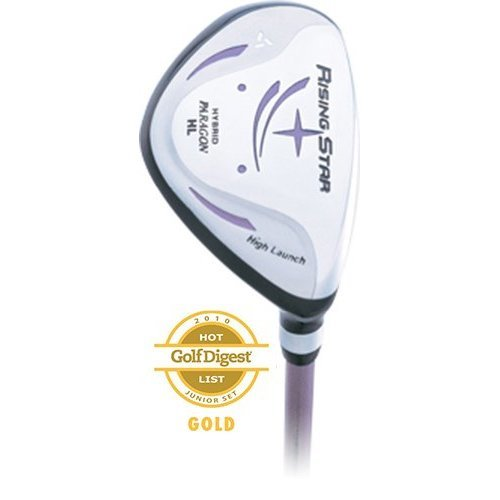 Paragon Rising Star Girls Junior Hybrid Iron Ages 8 10 Lavender Right Hand