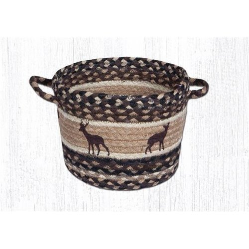 Capitol Importing 38-UBPMD518DS 13 x 9 in. Deer Silhouettes Medium Utility Basket