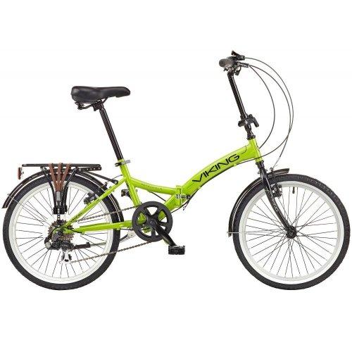 """Viking Metropolis 20"""" Wheel 6 Speed Folding Bike Green"""