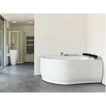 Left Hand Whirlpool Corner Bath with LED PARADISO