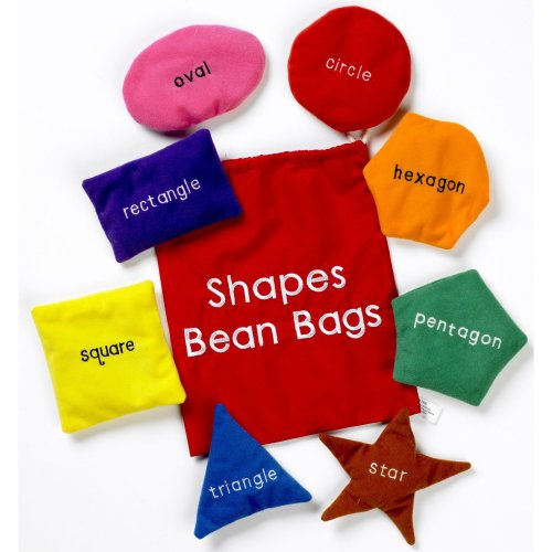 Shapes Bean Bags Set - School Learning Educational Toys - Teachers Resource
