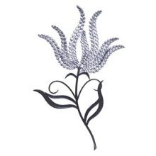 Silver Tulip Wall Art