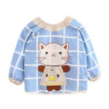 Lovely Baby Bibs Feeding Bib Kid's Apron Overclothes Waterproof Long Sleeves Art Smock NO.11