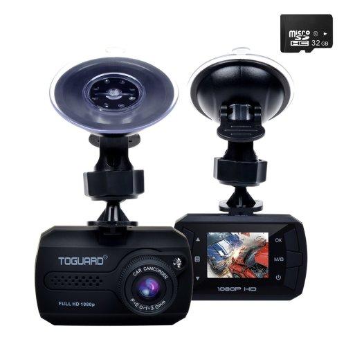TOGUARD Mini Dash Cam (32GB Card Included) Full HD 1080P Car Blackbox