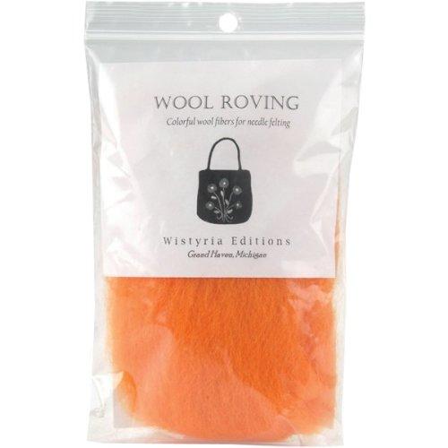 "Wistyria Editions Wool Roving 12"" .22oz-Orange"