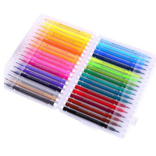 Water Coloring Brush Pens Back to School Art Supplies for Beginners Students Drawing, 36 Random Color
