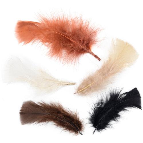 Turkey Plumage Feathers .5oz-Earthtones