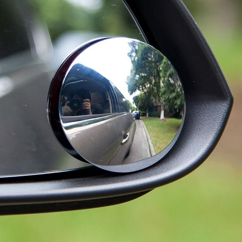 2pk Round Adjustable Car Stick-On Towing Mirrors | Blind Spot Mirrors