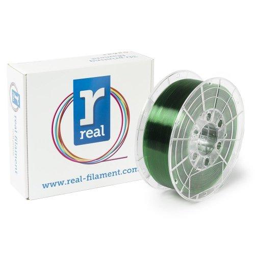Real Filament 8719128327426 Real PETG, Spool of 1 kg, 1.75 mm, Transparent Green