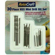 30 Piece Rotacraft HSS Mini Drill Bit Set -  rotacraft mini drill bit 30 hss piece setgrey