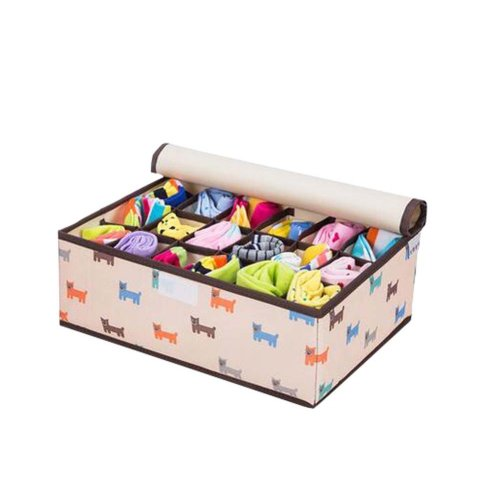 18 Grids Foldable Space Save Socks/Underwear Storage Organizer